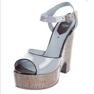 FENDI Platform Cork Wedge Sandal Women's